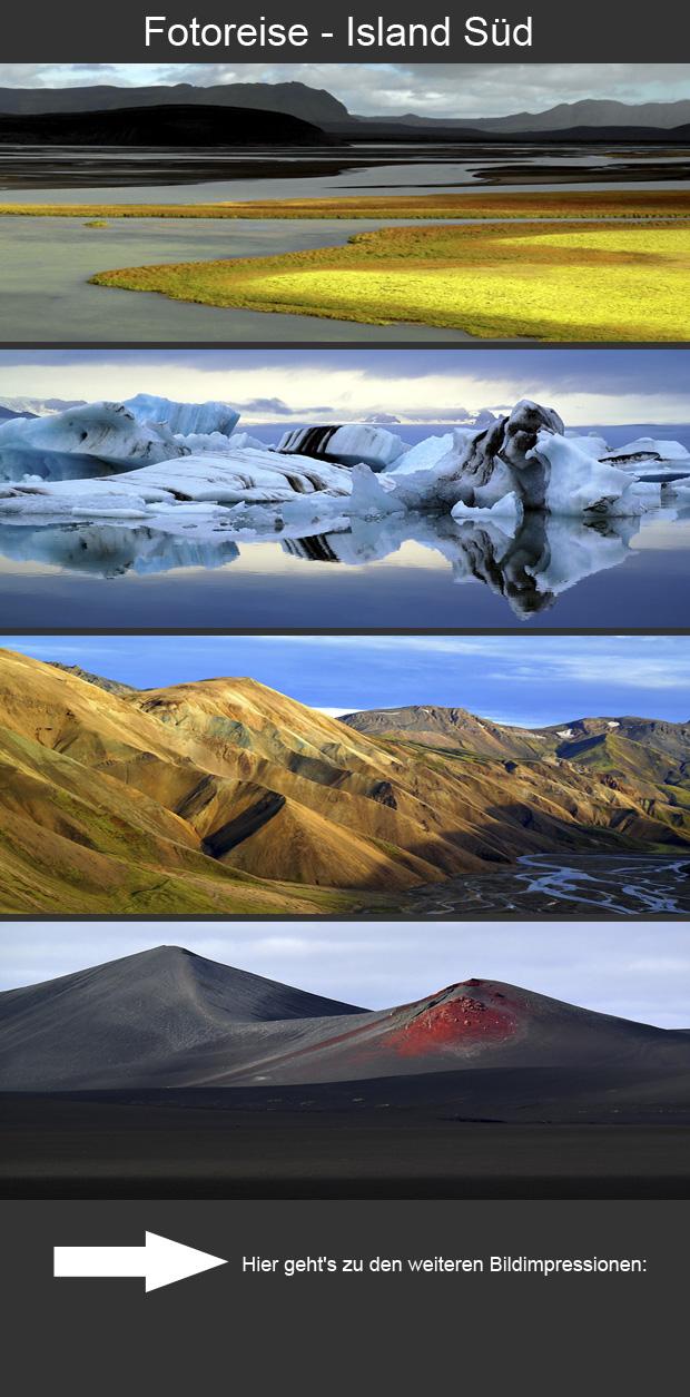 Grafik Fotoreise Island Süd 2015